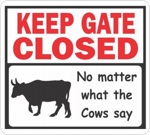 Gate Closed Cows