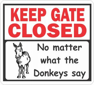Gate Closed Donkeys