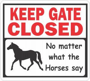 Gate Closed Horses